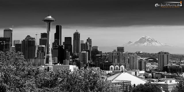 Seattle Panorama with Mt. Rainier