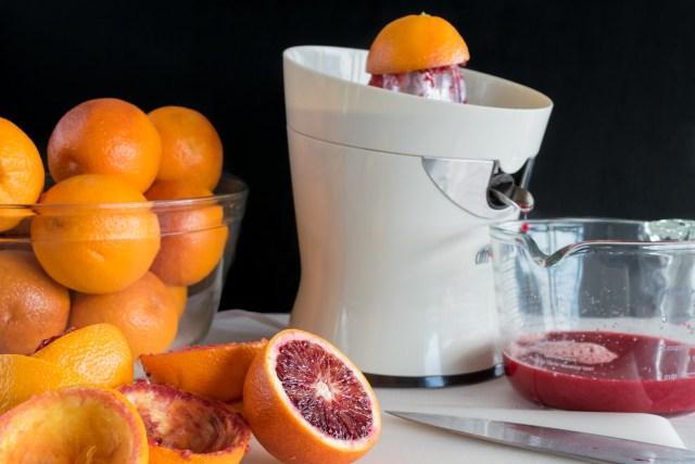 juicing the blood oranges