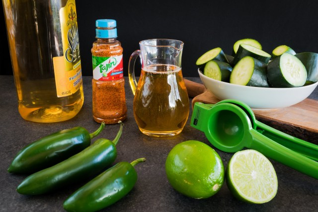 fresh ingredients for a refreshing cocktail
