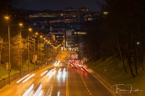 Lighttrails in Vienna