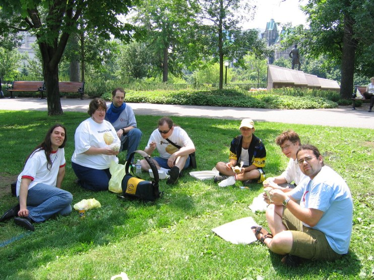 Image result for lunch in the park coworkers