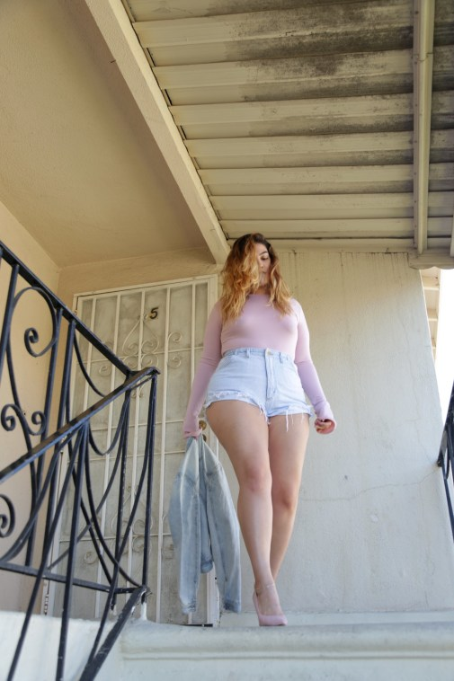 nadia aboulhosn jean shorts