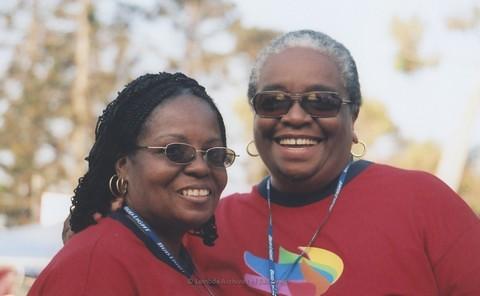 San Diego LGBTQ Pride Festival, 2007-Vertez Burks on right