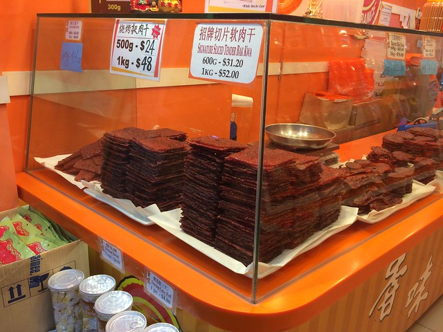Getting bak kwa at Fragrance Foodstuff