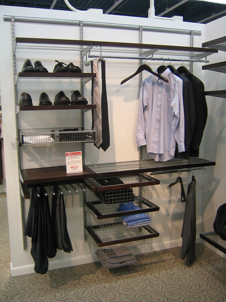 Walnut Platinum Elfa Decor Closet The Container Store