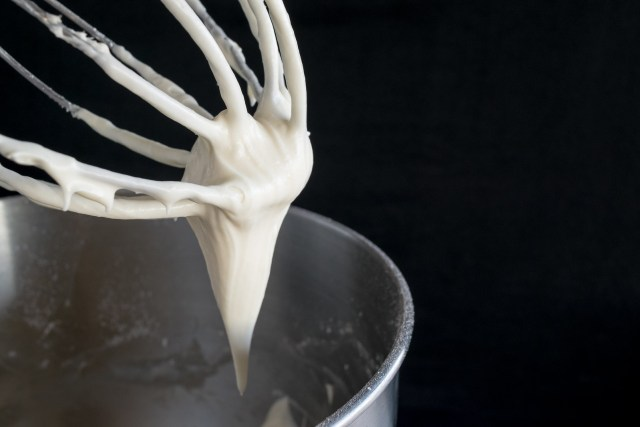 freshly-whipped cheesecake filling