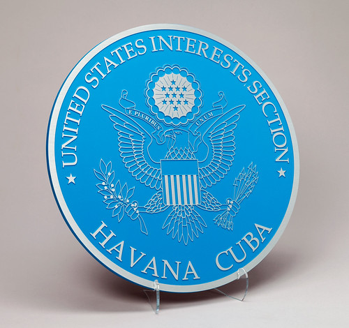 Podium seal, former U.S. Interests Section Havana, Cuba