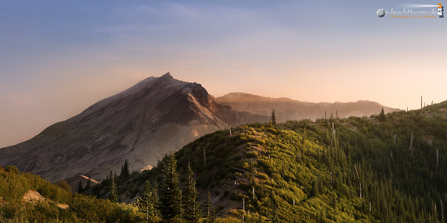 Mount St. Helens in evening light