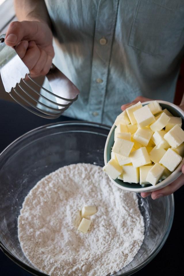 blending in the butter