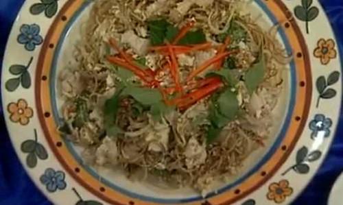 Cách làm nộm hoa chuối thịt ba chỉ đậu phụ