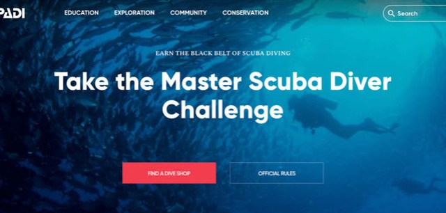 PADI Master Scuba Diver Challenge