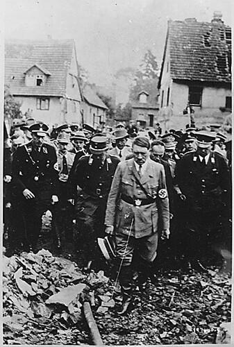 Public Domain: Hitler Inspects Bomb Damage (NARA)