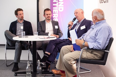 SES Ultra HD Conference 2018 - James Thomas, Product Manager, LG Electronics, Mike Somerset, TV Marketing Manager, Sony UK, Howard Saycell, Chief Executive Officer, RETRA, Chris Forrester, Conference Chairman, journalist and industry consultant