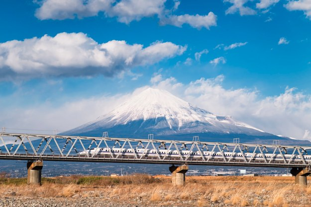 *Mt. Fuji and the Shinkansen Bullet Train*