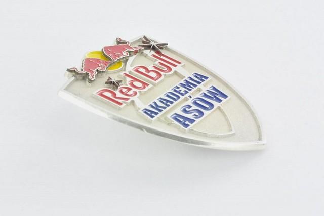 odznaka ze srebra z kolorową emalią