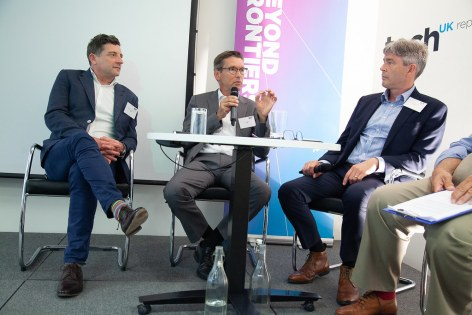 SES Ultra HD Conference 2018 - Richard Lindsay-Davies, CEO, The DTG, Thomas Wrede, Vice President, New Technology & Standards, SES, Mike Chandler, Managing Director, SES Astra GB