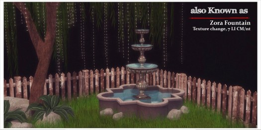 also Known as - Zora Fountain for Enchanted August 2018