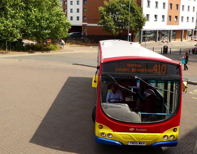 Trustybus YN05WKH on route 410 at Harlow Bus Station - 31st July 2018