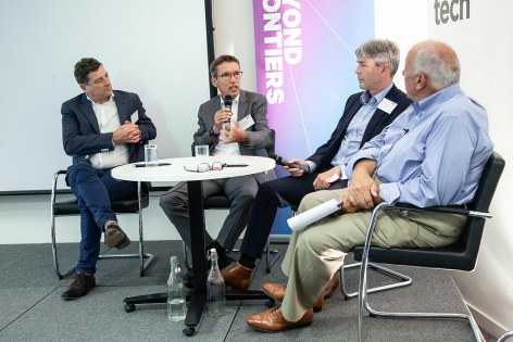SES Ultra HD Conference 2018 - Richard Lindsay-Davies, CEO, The DTG, Thomas Wrede, Vice President, New Technology & Standards, SES, Mike Chandler, Managing Director, SES Astra GB, Chris Forrester, Conference Chairman, journalist and industry consultant