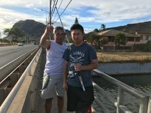 Ben's 1st fish in Hawaii. Thanks Gary.