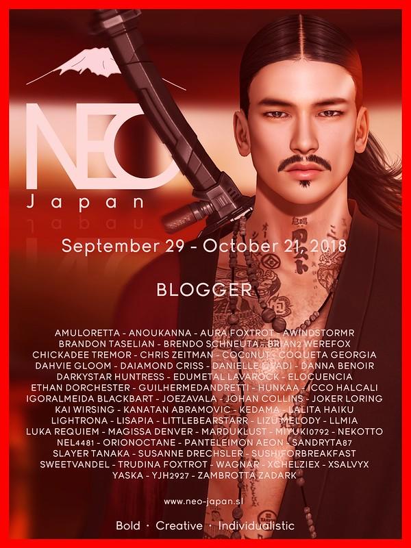 NEO-Japan SL Event Bloggers