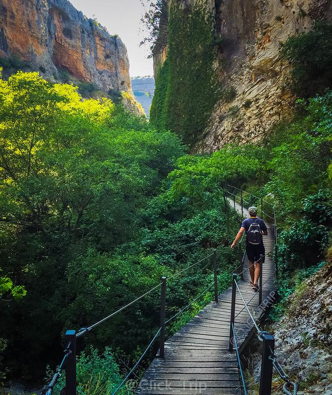 · Pasarelas del río Vero · Alquézar · Pasarelas de Alquézar · Ruta por el rio Vero · Huesca · Aragón ·