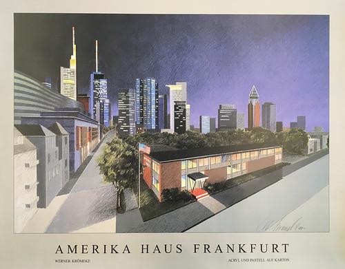 Poster, Amerika Haus Frankfurt
