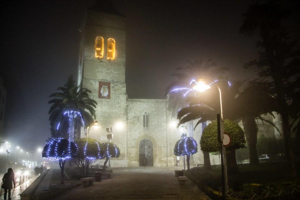 torre de noche y niebla exterior iglesia de San Pedro Ciudad Real 02