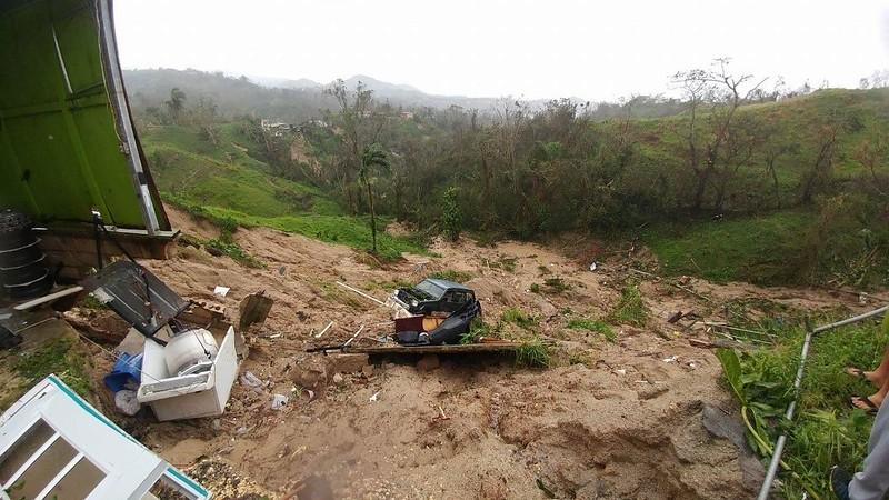 Deslizamiento en Utuado.