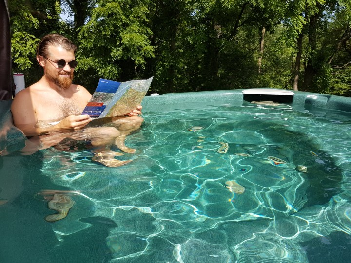 Trip planning in the hot tub