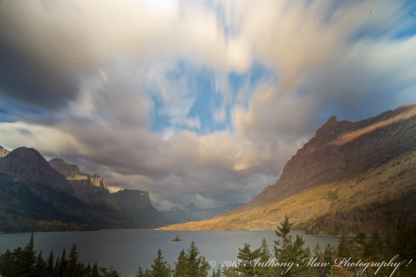 Approaching Storm Clouds Over St. Mary Lake   Fast moving ...