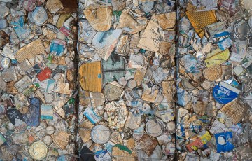 Bails of Compacted Cans