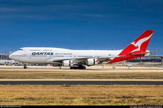 [DFW.2013] #Qantas #QF #Boeing #B744 #VH-OEE #Nullarbor #1st.B744 #awp