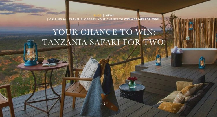 Win A Tanzania Safari For Two!