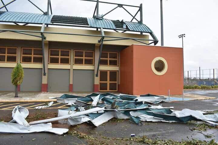 El huracán arrancó el techo casi en lo absoluto