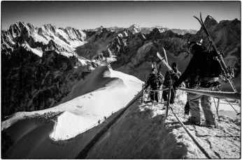 Setting out to the Vallee Blanche