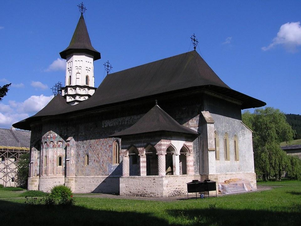 exterior iglesia de la Resurrección de Cristo Monasterio Sucevita en Sucevița Rumania 06