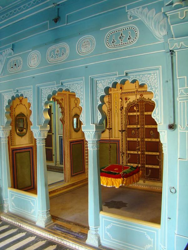 India Udaipur interior Palacio de la Ciudad 48