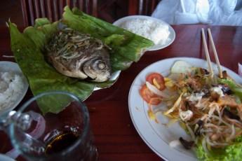 Fisch in Banana-Leaf