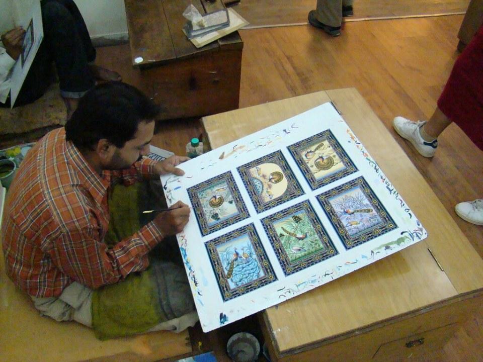 India Udaipur Escuela de pintura de Miniaturas 07