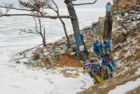 Votive ribbons, shaman rocks, Baikal Siberia © Bernard Grua 2007