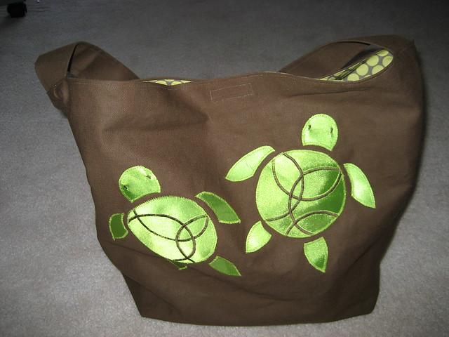 Diaper Bag - Baby Sea Turtles - Exterior