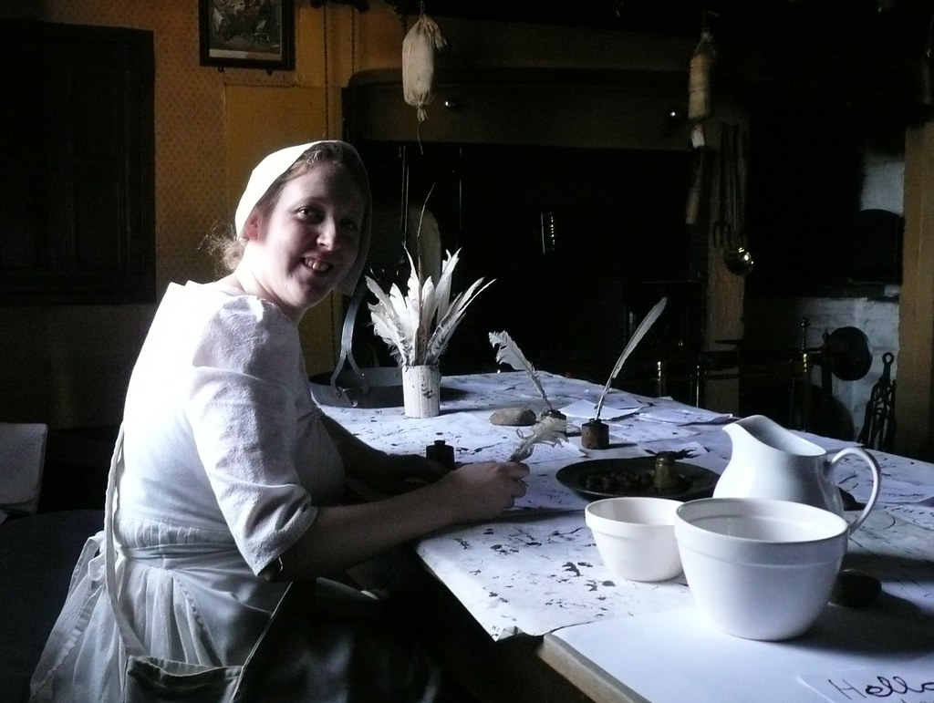 Georgian Servant Learning To Write