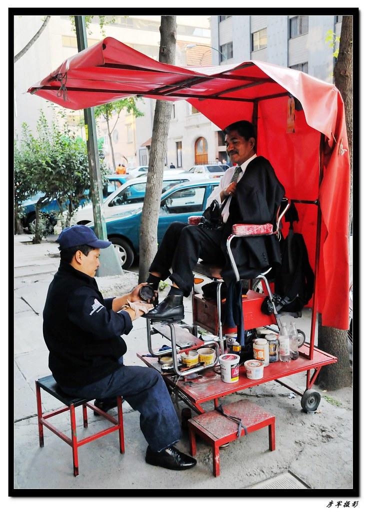 墨西哥印象(街頭即景之擦鞋匠) | Wang Yanjun | Flickr