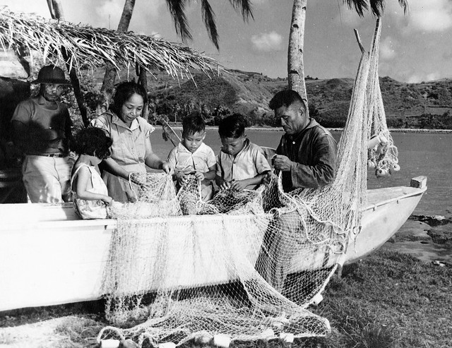Family Mending Their Talaya