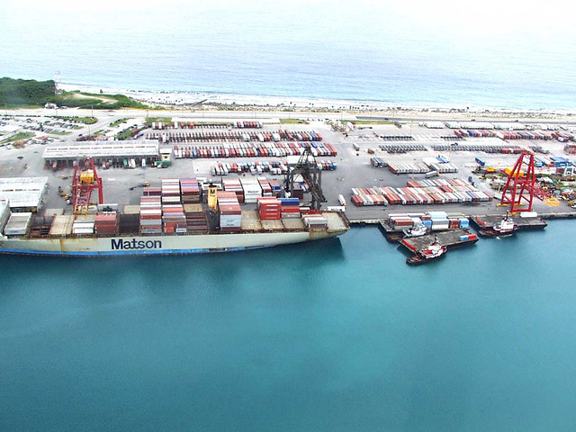 Aerial of The Port of Guam