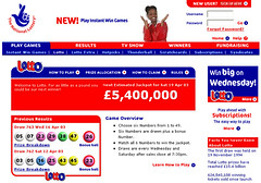 National Lottery UK Website