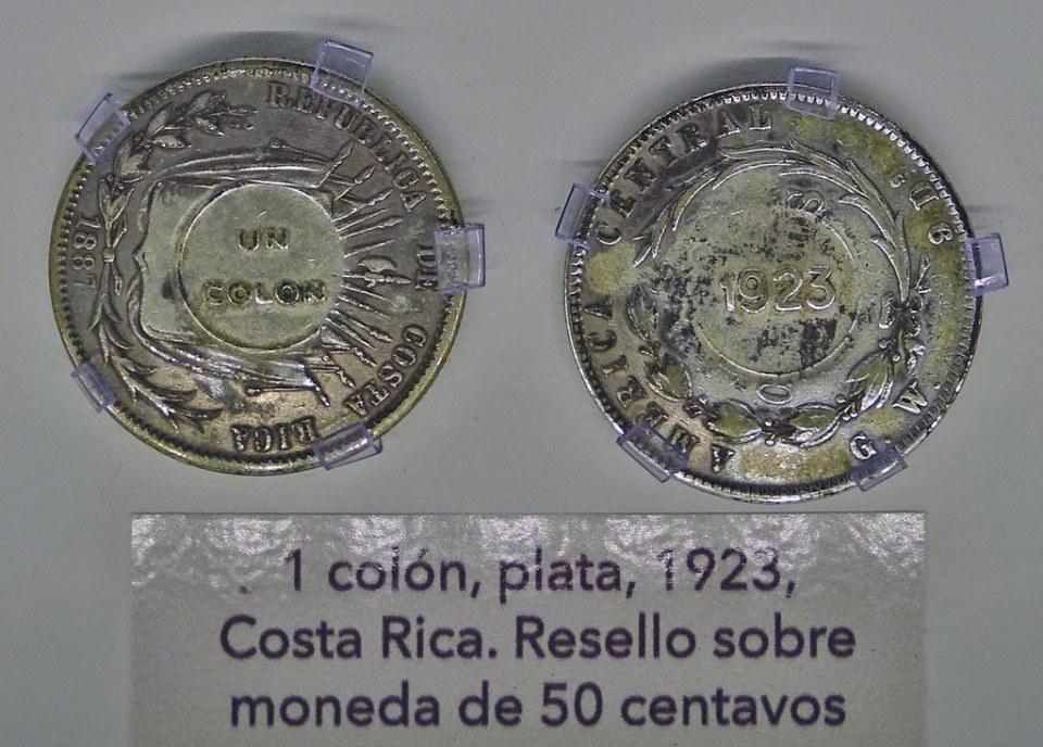 1923 Monedas Años 1900-1950  Museo Numismática Banco Central San José de Costa Rica 20
