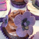 Deep Purple Flower For Hen Party Cupcakes A Photo On Flickriver