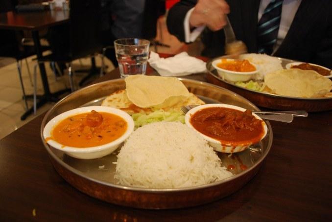Butter Chicken, Beef Vindaloo Lunch Thali - Spice Kitchen